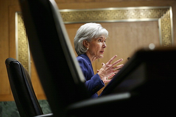 Health and Human Services Secretary Kathleen Sebelius answers questions about the error-plagued launch of Healthcare.gov while testifying before the Senate Finance Committee