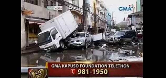 Typhoon damage in the Phillipines
