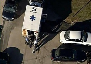 Ambulance at Pittsburgh high school shooting