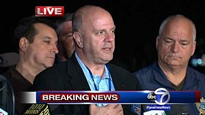 Paramus Police Chief Kenneth R. Ehrenberg addresses media