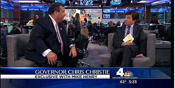 Governor Christie on the Michael J. Fox show with Fox's character Mike Henry