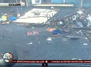 Debris in Tacloban City