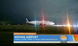 Dreamliner jumbo jet sits on runway at Wichita Airport