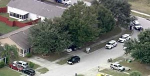 Police at George Zimmerman's home in Orlandom FL
