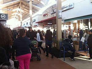 Black Friday shoppers at the Jersey Shore Premium Outlet in Tinton Falls
