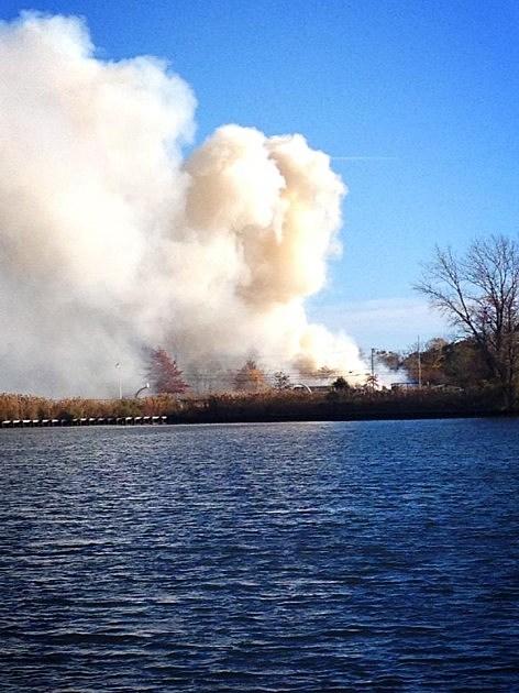 Fire as seen from Ocaenport