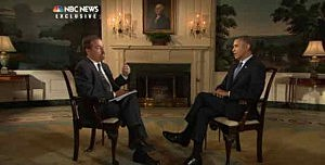 President Obama talks to NBC's Chuck Todd