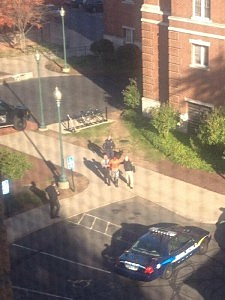 Possible suspect at CCSU being escorted by police
