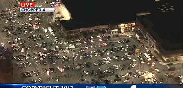Garden State Plaza on Monday night after the shooting