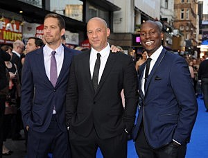"Actors Paul Walker, Vin Diesel and Tyrese Gibson attend the ""Fast & Furious 6"" world premiere in London"