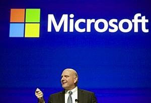 Microsoft CEO Steve Ballmer addresses shareholders during the Microsoft Shareholders Annual Meeting