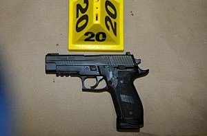 Sig Sauer P226 9mm found on shooters person in Room 10 at Sandy Hook Elementary School following the December 14, 2012 shooting rampage
