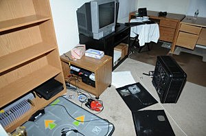 2nd Floor computer room at the suspect's house on Yogananda St. following the December 14, 2012 shooting rampage at Sandy Hook Elementary School