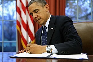 President Obama Holds Bill Signing At White House