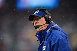 Giants head coach Tom Coughlin
