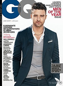 The December issue of GQ