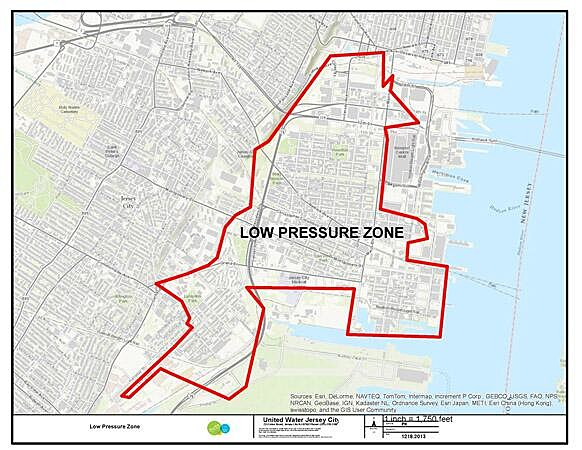Area of Jersey City a boil-water order has been issued
