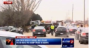 School bus-truck accident in Kuna, Idaho
