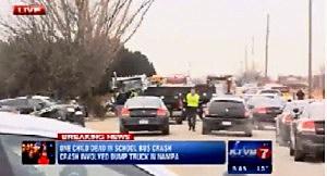 School bus-truck accident in Kuna, Idaho