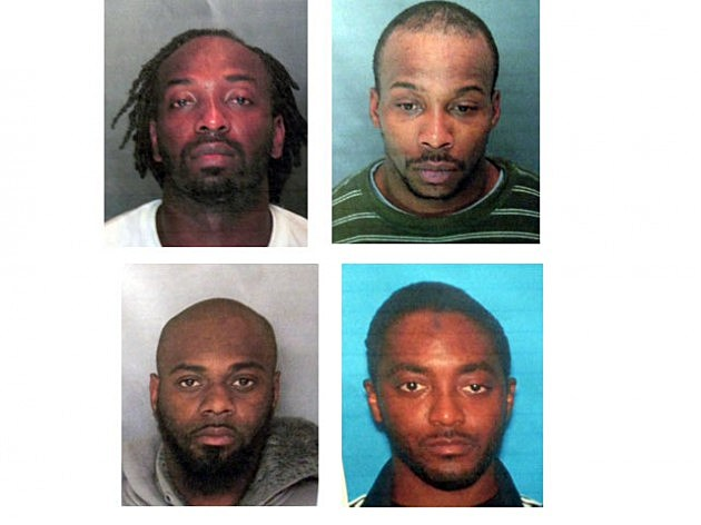 (Clockwise) Carjack suspects Karif Ford, Kevin Roberts, Hanif Thompson and Basim Henry