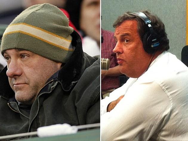 James Gandolfini and Governor Chris Christie