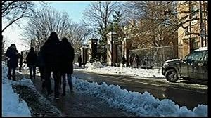 Harvard University building being evacuated