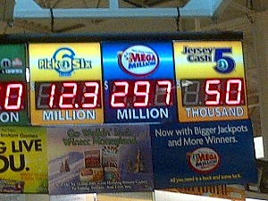 Shop Rite in Ewing displays Mega Millions jackpot