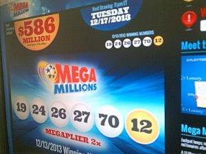 Mega Millions website displays Tuesday jackpot amount