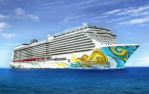 Norwegian Cruise Line's newest cruise ship, the Gateway