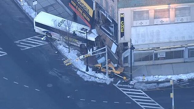 NJ Transit bus crashes into a building in Newark