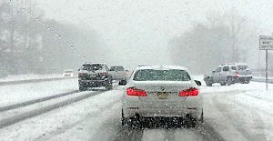 Route 70 during Sunday's snow