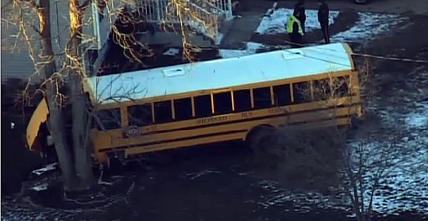 School bus crashes into a tree in Vineland