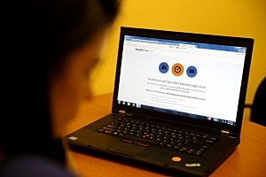 Laptop displays the HealthCare.gov website