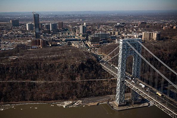 The New Jersey side of the George Washington Bridge
