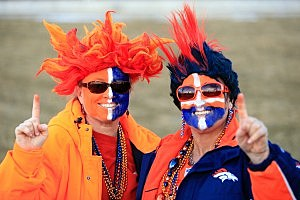 Two Denver Broncos fans