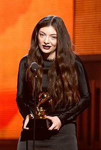 Singer Lorde accepts the Best Pop Solo Performance award for 'Royals' onstage during the 56th Grammy Awards