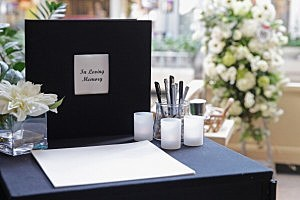 Condolence books are available for visitors to sign at the Mall in Columbia