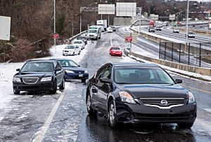 are Winter Storm In South Brings Ice And Snow To Region Unaccustomed To The Elements