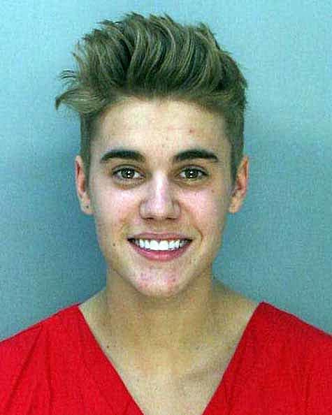 Justin Bieber booking photo