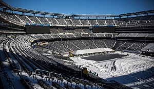 Workers Prepare MetLife Stadium For Superbowl XLVIII