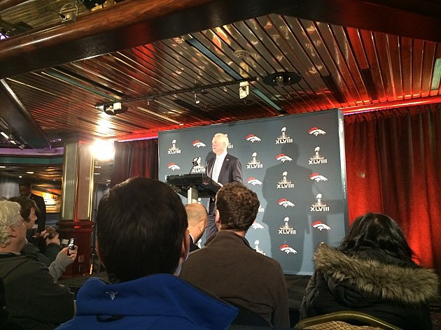 Denver Broncos Coach John Fox Addresses the Media