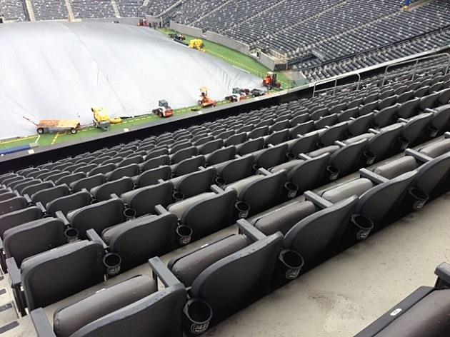 Inside MetLife Stadium before Super Bowl XLVIII