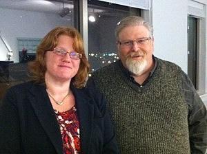 Carol Benevy (l.) and Chaplain Bill Meyer