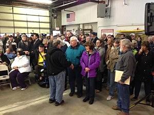 NJ residents await Gov. Christie's arrival in Manahawkin