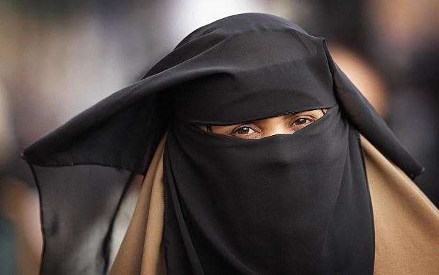 Muslim woman wearing a hijab.