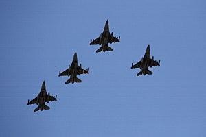 Four F-16 jets