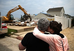 NJ Beach Town Devastated By Hurricane Sandy Tears Down Storm-Damaged Homes