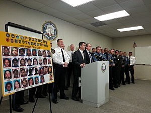 Press conference with Monmouth County Prosecutor's Office