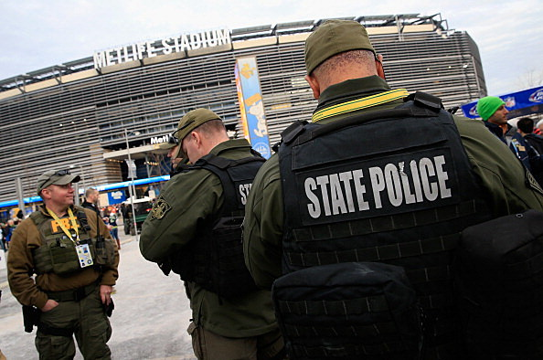 New Jersey State Police and FBI provide security for Super Bowl XLVIII