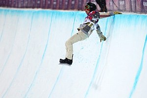 Shaun White of the United States crashes out in the Snowboard Men's Halfpipe Finals